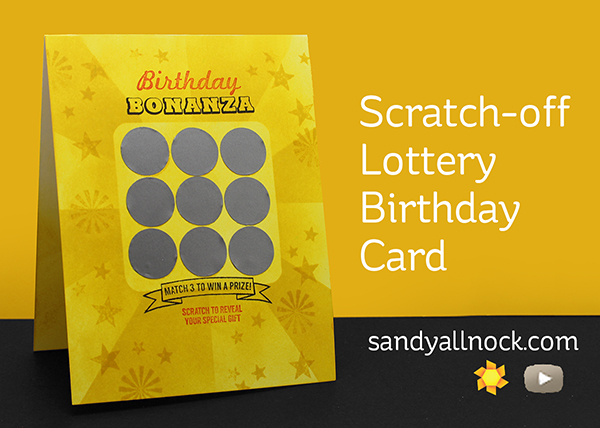 Free Birthday Lottery ~ Scratch off lottery birthday card sandy allnock