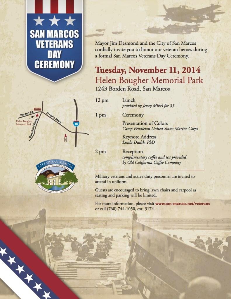 San Marcos Veterans Day Event