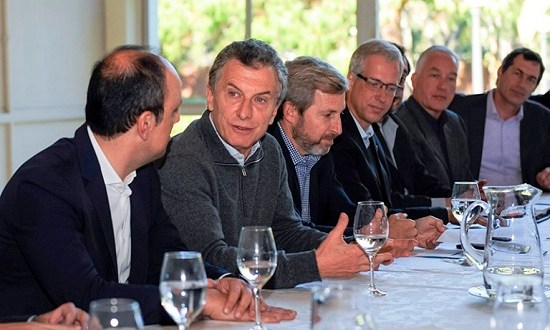Macri recibió al Foro de Intendentes Radicales de Santa Fe, entre ellos Marconcini