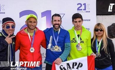 Sangenarinos hicieron podio en Rafaela en los 21K