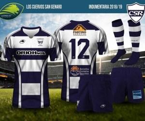 Rugby San Genaro: Los Cuervos presentaron su camiseta