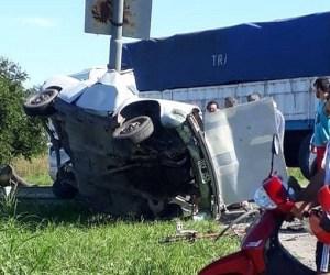 Un hombre murió tras un impresionante choque en Ruta 34