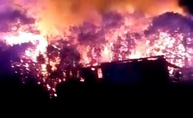Timbúes: Murió un niño de cinco años en un voraz incendio en un complejo de cabañas