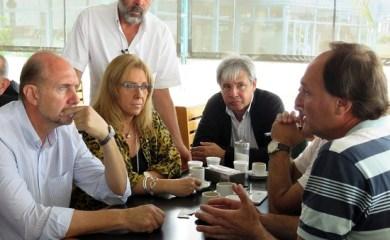 Perotti y Giaccone  se reunieron con frentistas de la Ruta 34 en San Genaro