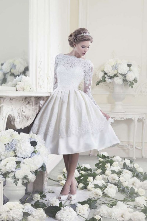 A Stunning Collection Of Vintage Short Wedding Dresses