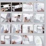 Kit d'installation rapide du Saniprotect ou protection de lunette de WC hors foyer