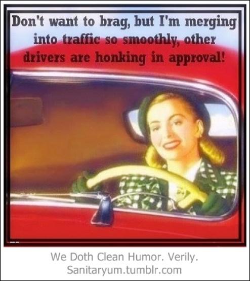 Honking in approval