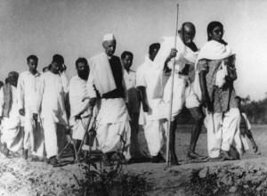 Mahatma Gandhi at Noakhali, West Bengal
