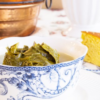 Turnip Greens are at the top of the food chain for Southern Cuisine.  Grab your cornbread and sweet tea and enjoy!