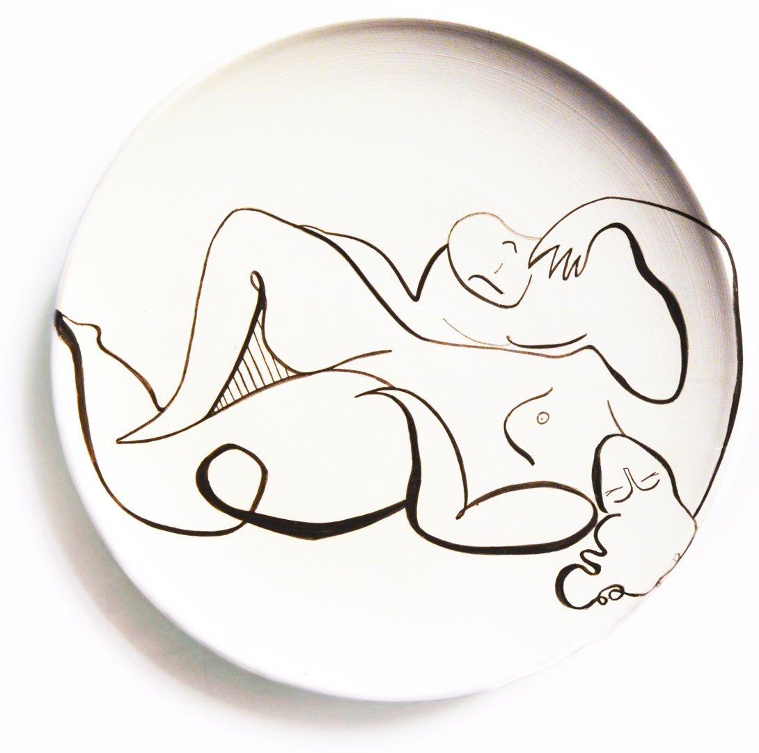 andrea-santamarina-contemporary-artist-spain-art-gallery-artistic-ceramic-drawing-plates-love-11