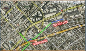 Proposed Bike Path through Agensys site