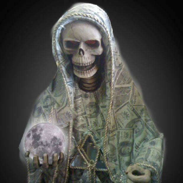 santa muerte dinero