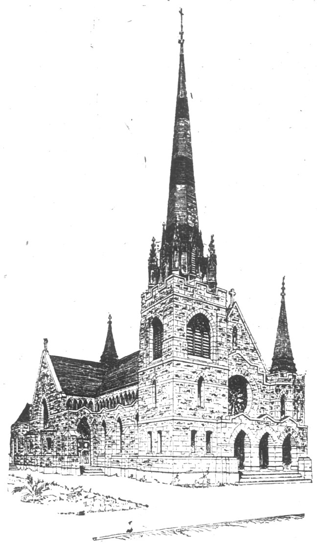 Frank T. Shea drawing of St. Rose church (San Francisco Chronicle, December 3 1899)