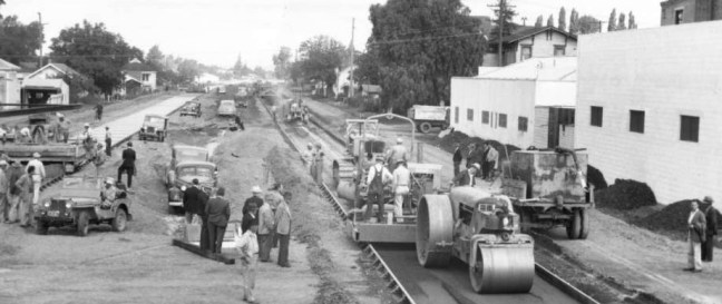 Building highway 101 in 1948. Photo courtesy Sonoma County Library