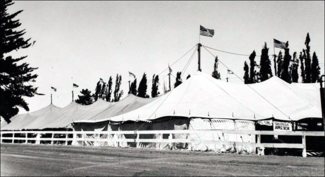 Tents at the 1937 Sonoma County Fair (Photo courtesy Sonoma County Library)