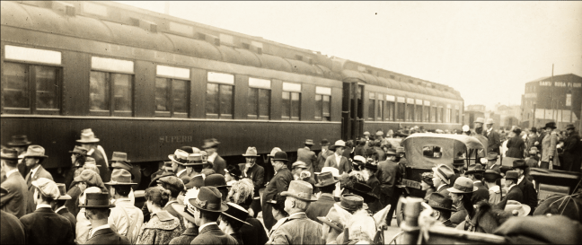 Edison-Ford train arrives in Santa Rosa, Oct. 22, 1915