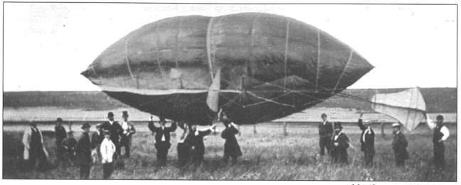 Test flight of the Avitor, July 2 1869 at Millbrae