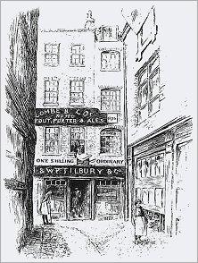 """La locanda """"All'oca e al girarrosto"""" dove nel 1717 si istituì la Gran Loggia di Londra."""
