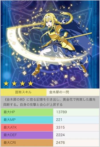 【黄金の騎士】アリス