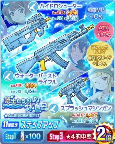 銃士たちの休息日 武器