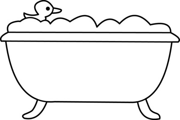 coloring pages of a bath - photo#21