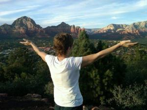 My sweet Mama basking in Elohim's creation. (This photo was taken by my Mom's friend Misty)