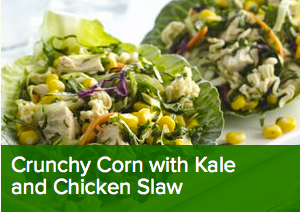 Green Giant Crunchy Corn with Kale and Chicken Slaw