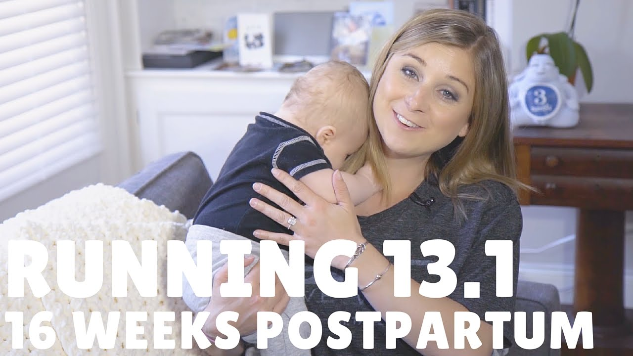 Video: How I feel about running 13.1 miles 16 weeks postpartum this weekend