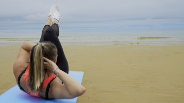 WATCH: Cardio + Tone, HIIT Body Weight Beach Circuit