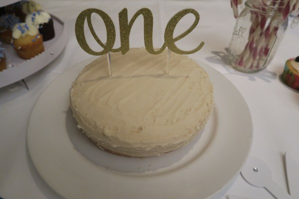 One Year Old Organic Birthday Cake