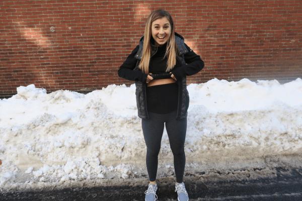 Stitch Fix Maternity Winter 2018 Beyond Yoga Leggings Outside