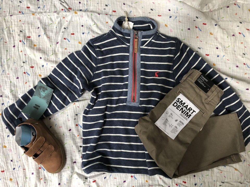 DL1961 Timmy Slim Leg Chino Pant Joules Timothy Stripe Zip Pull Over