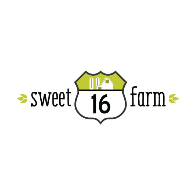 Sweet 16 Farm logo variation