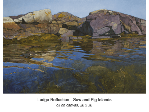 Ledge Reflection Sow and Pig 20 x 30