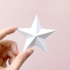 3D Folded Paper Star
