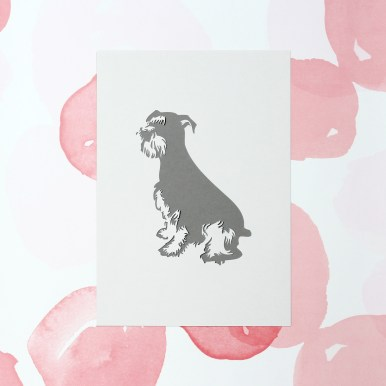 Paper cut Miniature Schnauzer Personalised Dog Artwork