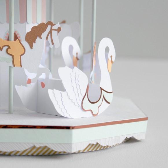 Sarah Louise Matthews 3D Paper Engineering Carousel Swan
