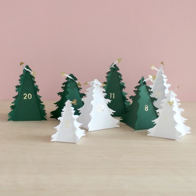 Sarah Louise Matthews 3D Paper Engineered Christmas Tree Advent Boxes
