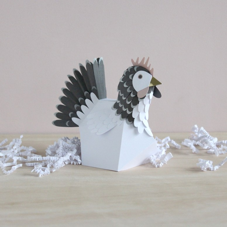 3D Paper Engineered Hen