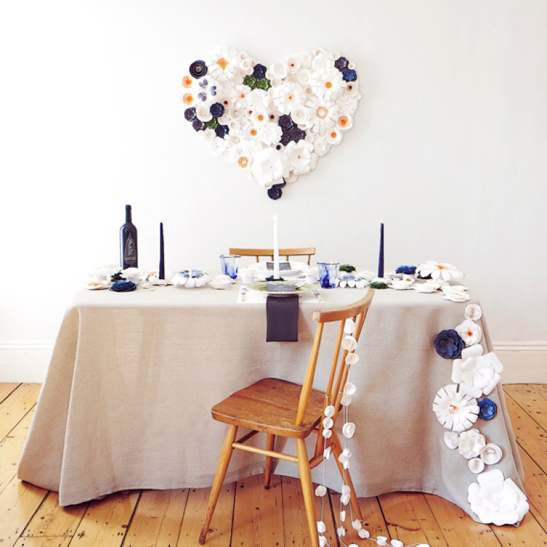 Paper Flowers tablescape