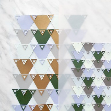 Geometric Linking Paper Triangles Backdrop