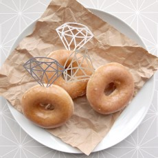 Papercut Engagement Party Doughnut Diamonds