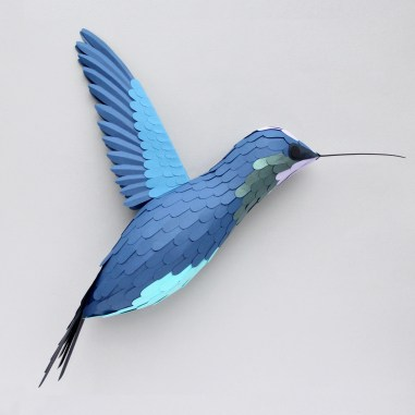 3D Paper Hummingbird Bird