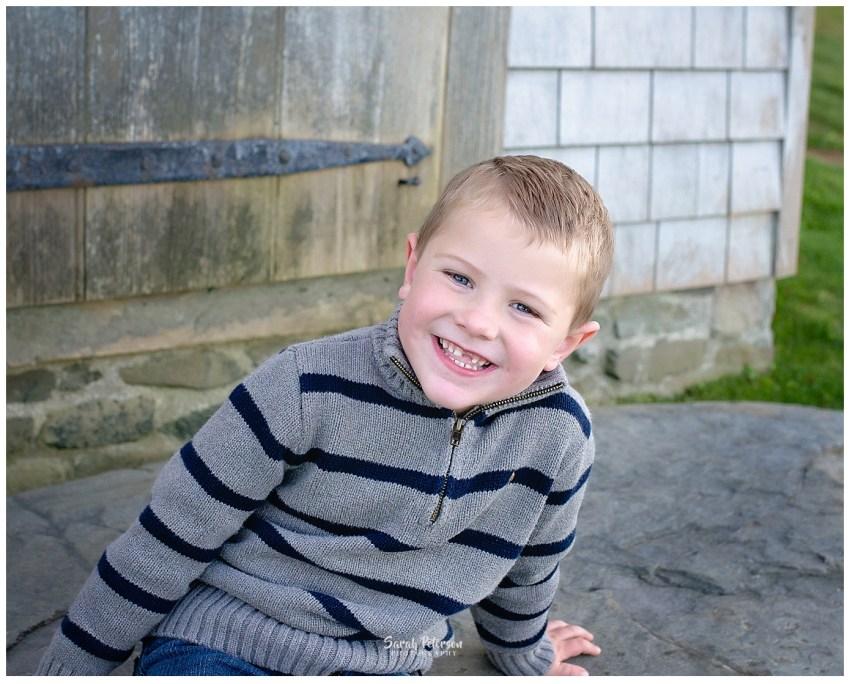 happy 5 year old boy