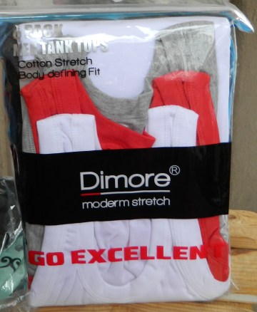 Dimore 6 Pack Classic Fit Men Tank Top Undershirt Athletic Muscle Sleeveless T Shirts