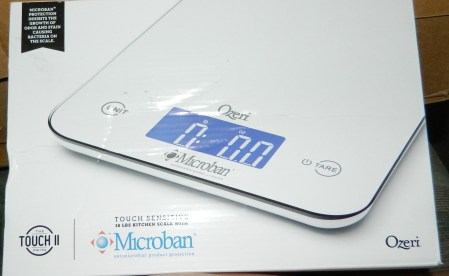 Ozeri Touch II 18 lbs Digital Kitchen Scale, with Microban Antimicrobial Product Protection