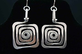 Square Spiral Earrings
