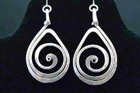 Teardrop Spiral Earrings