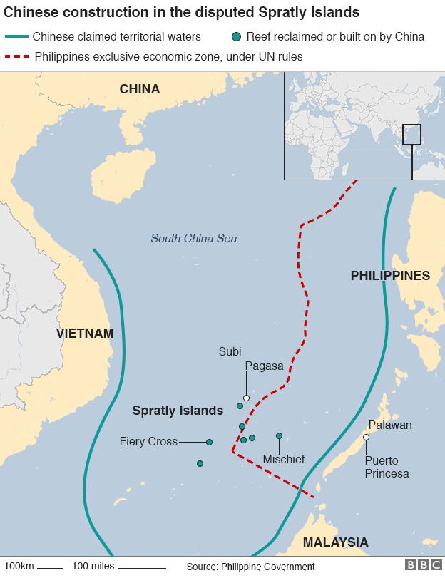中国とフィリピンの対立