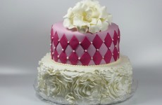 Diamonds and ruffles cake